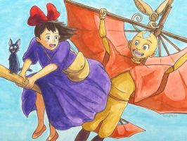 Kiki and Aang by gavacho13