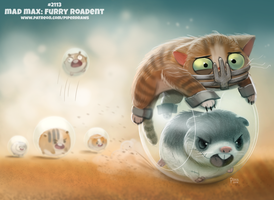Daily Paint 2113. Mad Max: Furry Roadent by Cryptid-Creations