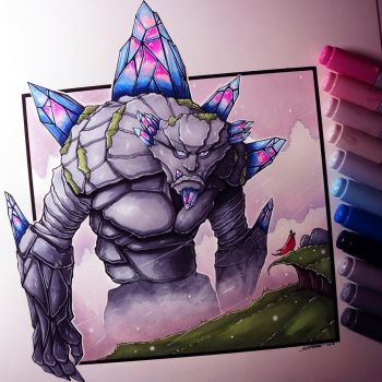 Gemstone Giant Drawing by LethalChris