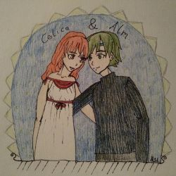 Celica and Alm by happydreamer96