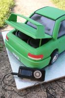 Car Cake with sound system by Verusca