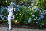 Plugsuit Ayanami Rei and hydrangea by doller98-TAKA