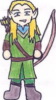 Legolas Cartoon by deviant-rohain