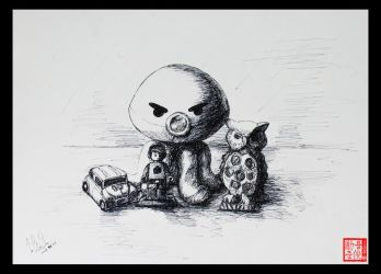 4 Objects Drawing by XLordAndyX