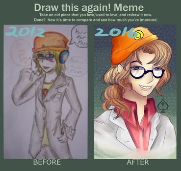 Meme  Before And After by oxaceann