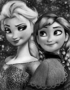 Elsa and Anna (Frozen) by gerd324