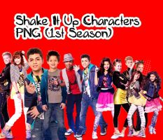PNG Pack Shake iT Up Characters (1st Season) by vannessamorgan
