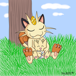 Meowth and Togepi by DiosApollos