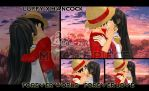 Luffy Kiss Hancock by kaset218