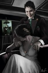 Oswald Cobblepot and his wife, Maya by MayaCobblepot
