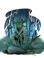 Yoda and the force by melies