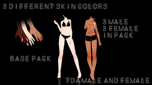 Tda Male and Female Base Pack!! - Download! - by Mikupai