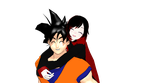 MMD: Ruby and Goku by Mirai-Digi