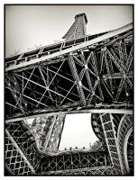 Eiffel Tower Close-up by S4SH4X