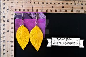 Leaf Earrings by TheTrueGypsyQueen