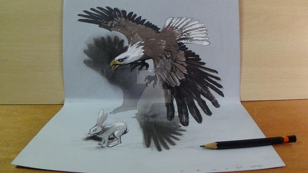 Hunting Eagle, 3D Art by VamosArt