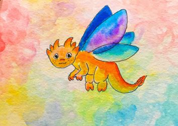 Colorful little dragon! by NycterisA