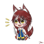 CHIBI RINA [simple] by HoodieFoxy