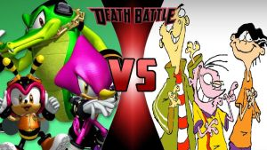Team Chaotix vs. The Eds by OmnicidalClown1992