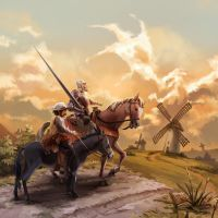 Don Quixote by nikogeyer