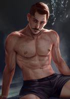 Dorian in sauna by ynorka