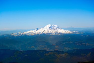 Mount Rainier and Park Aerial View by LeGreg