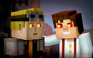 Minecraft Story Mode | Evil Lukas and The Admin by Gazillka