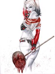 Harley Quinn GO ASS bloody mallet by ebas