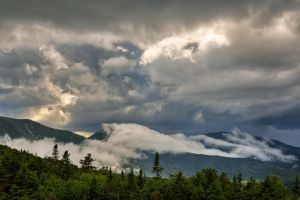 Glowing White Mountain Clouds by somadjinn