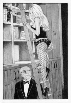 Black Canary and Alfred Pennyworth by TimGrayson