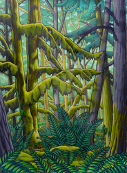 Old Growth Forest Canadian by Artist-Kim-Hunter