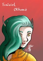 Portrait - Tinuviel Othome by Hurlespoir-Amelie