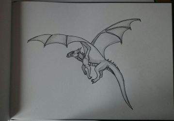 :Request: Flying Sketch by DragonikHelix
