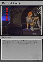 Raven and Corbie Trading Card by NCWeber