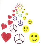 Love Peace Happiness by GothianaVampet