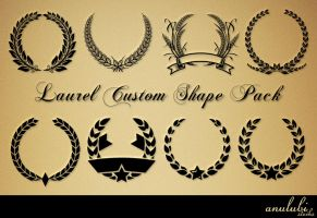 Laurel Custom shape Pack [Photoshop] by anulubi