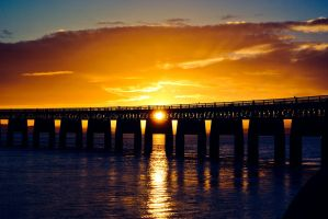 Sunset Over The Tay by NurturingNaturesGift