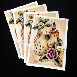 Jason Voorhees Tattoo Flash by Michelle Coffee by misscoffee