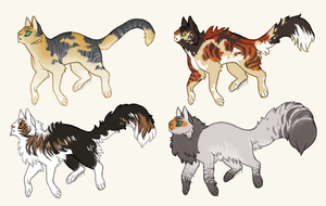 edit: Prices Reduced! | Cat Adoptables [ CLOSED ] by ssleepy