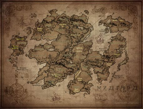 Map of Midgard 5.0 by Kate-FoX