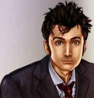 10th doctor painting by Theinkcat