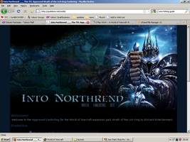 Old website design: Wrath of the Lich King by jadedlioness