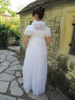 1812 Lace Insertion Gown, Back by Lady-Lovelace