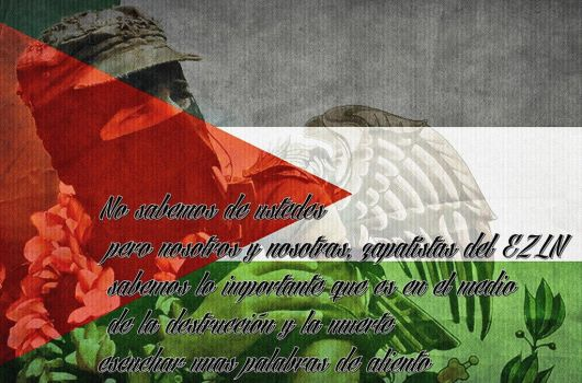 Sub Marcos for Palestine by Quadraro
