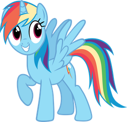 Pony request 160 - Alicorn Rainbow Dash by ah-darnit
