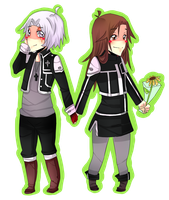 Chibi: Kumi and Allen Walker by Kialun