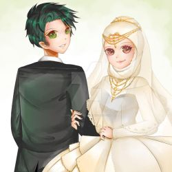 Wedding Hijab by lunanightborn
