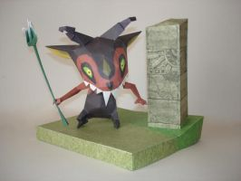 Miniblin No. 1 Papercraft by Skele-kitty