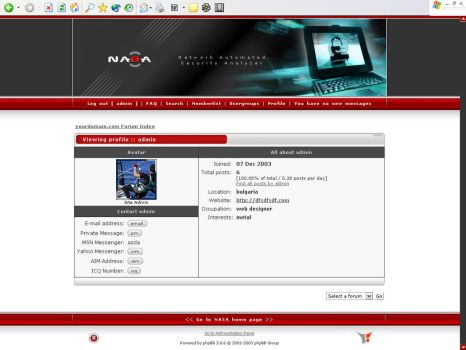 Nasa phpbb theme by outlines