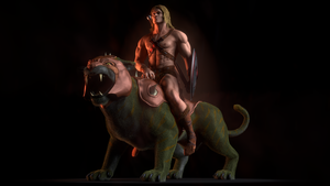 MOTU - He-Man on Battle Cat - 1 by paulrich